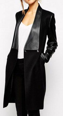 black faux leather jacket                                                                                                                                                     More