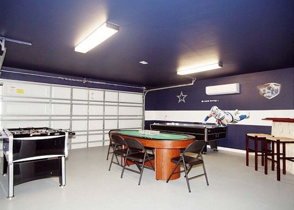 Convert Your Garage Into A Man Cave Game Room