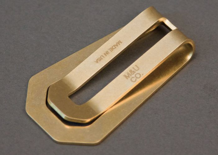 M&U Co. Brass Money Clip