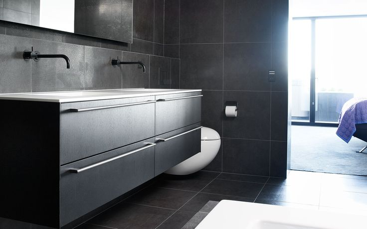 Form 2 //Black stained oak bathroom by Multiform