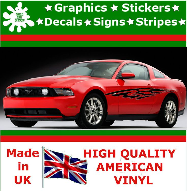 """10"""" High Car Side Stripes Graphic Decal Vinyl Stickers Van Auto Rally Race F3_30"""