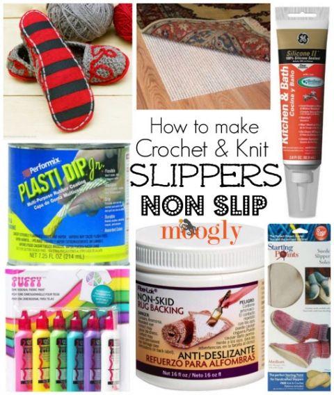 how to make crochet shoes non slip
