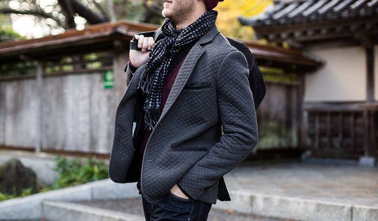 Men's Quilted Knit Travel Blazer