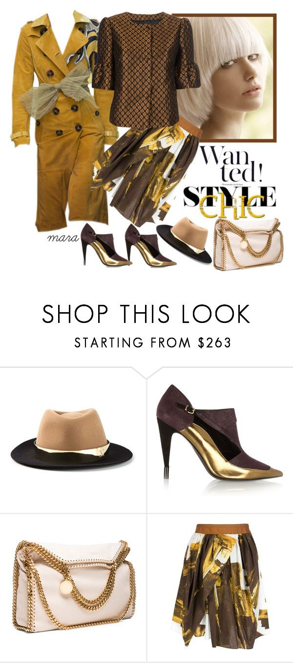 """""""Style chic"""" by marastyle ❤ liked on Polyvore featuring Burberry, Maison Michel, Roland Mouret, STELLA McCARTNEY, Eggs and RED Valentino"""