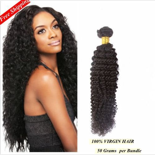 6A Remy Brazilian Virgin Kinky Curly Human Hair Extensions Weave Weft 50g/Bundle #NewBrand #HairExtension