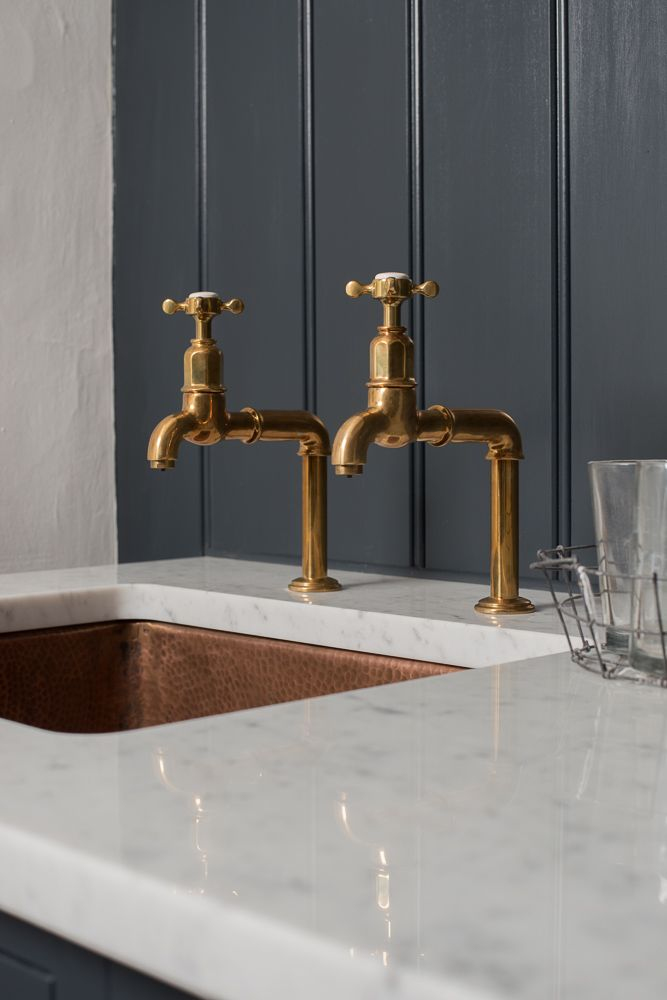 the perfect antique brass tap by deVOL