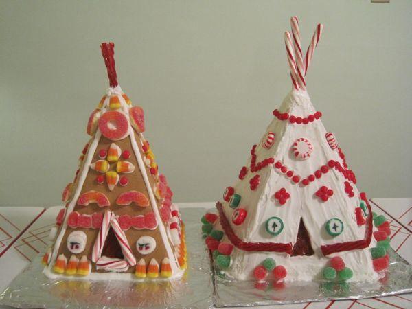 gingerbread tipi village