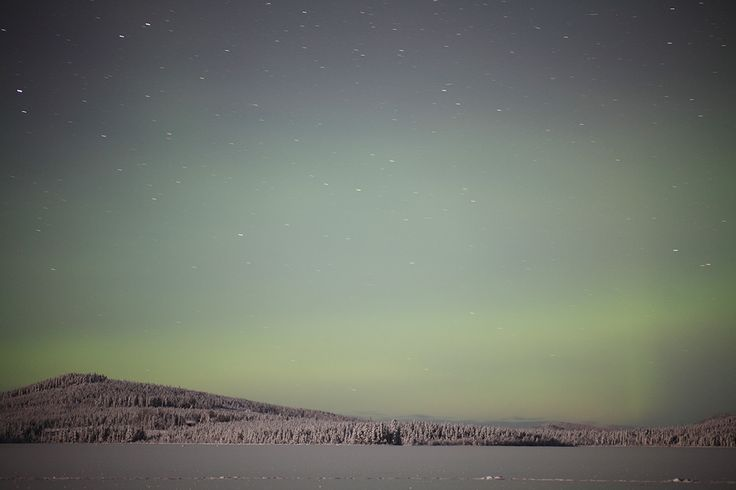 A sweet little Aurora Borealis over Svergoträsk, outside Sorsele in Swedish Lapland. #northernlights #aurora