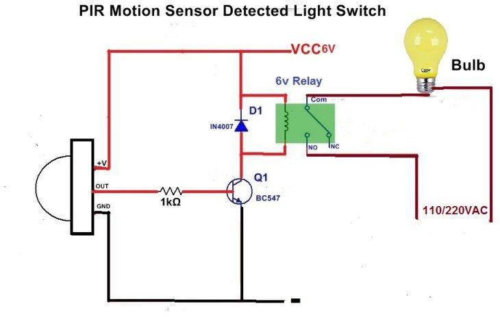 Motion Sensor Light Switch In 2020 Light Sensor Motion Sensor Lights Light Sensor Circuit