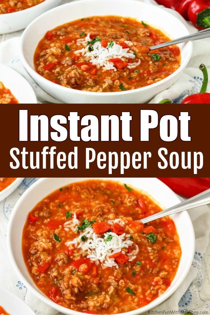 Instant Pot Stuffed Pepper Soup In 2020 Instant Pot Soup Recipes Stuffed Pepper Soup Instapot Soup Recipes