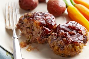 BBQ-Glazed Mini Meatloaves recipe