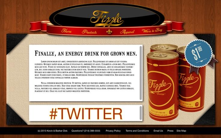 Fizzle Website Page 1