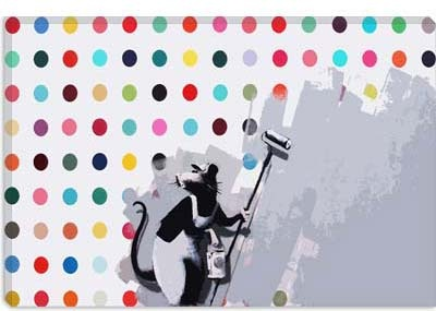 Banksy Rats Spots Damien Hirst....    Love this one!
