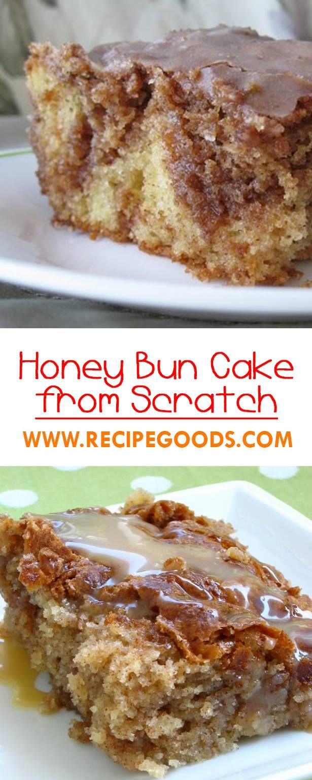 Honey Bun Cake from Scratch