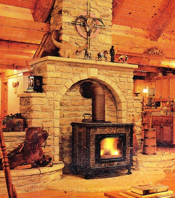 This is the stove surround I want to build with my wood stove.