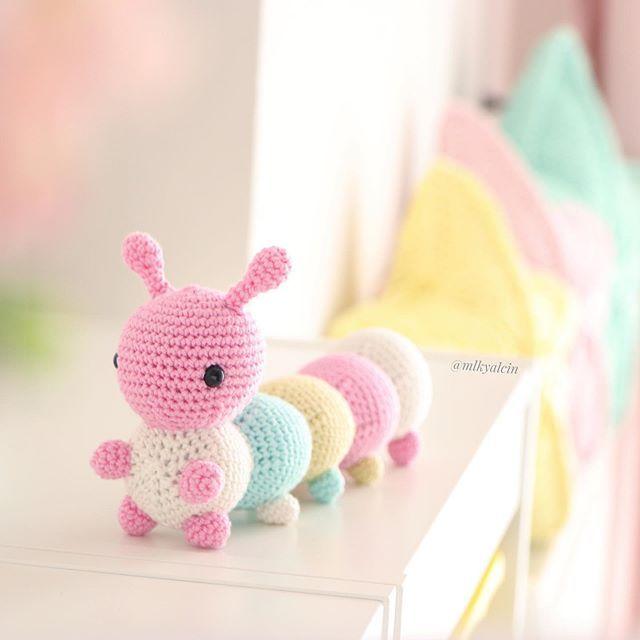 Alastair the Caterpillar (or Inchworm) Crochet Amigurumi Pattern ... | 640x640