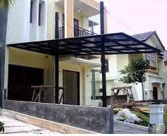 Desain Kanopi Rumah Minimalis Simple Residential Awnings Aluminum Awnings Facade Architecture