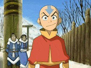 Behold! The Avatar, and all his glory! His destiny is to defeat the Fire Lord and he can do this!