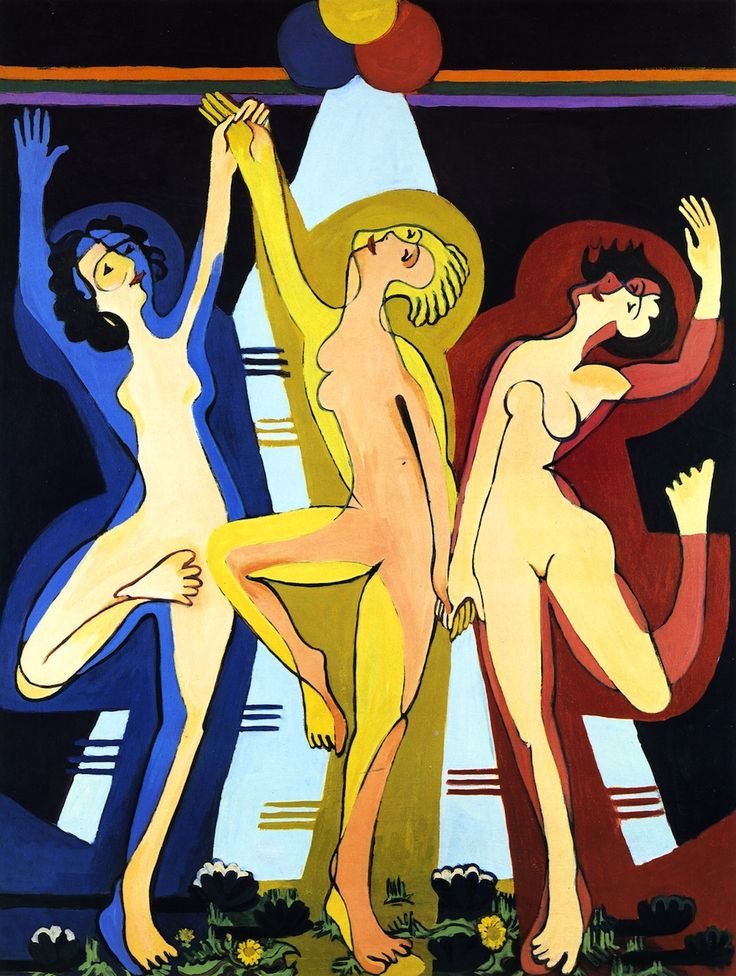 Ernst Ludwig Kirchner, Farbentanz II, 1932-1934