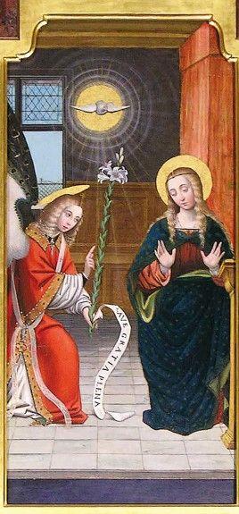 Santuario 'Madonna dei Laghi' di Avigliana (Torino) | l'Annunciazione dettaglio.