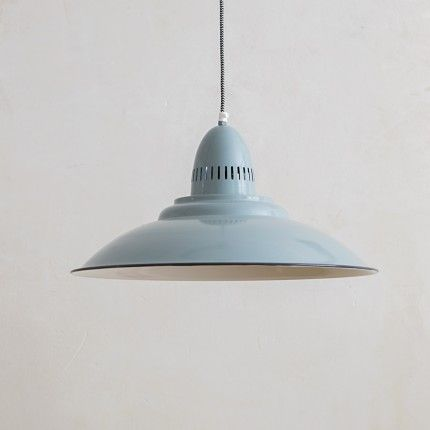 Shoreditch Industrial Ceiling Light in Sage Green