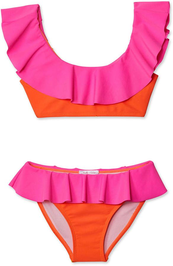 Stella Cove Girls Neon Bikini Two Piece Swim Set 2 14 En 2020 Con Imagenes Ropa Trajes De Bano Vestidos De Bano