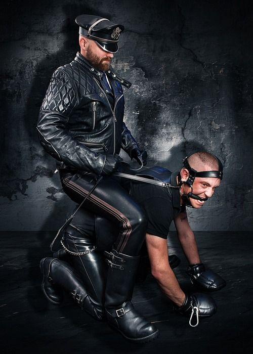Master slave leather men