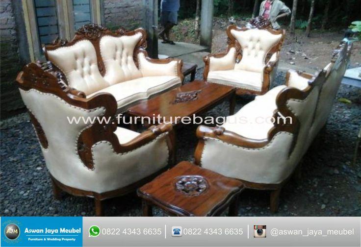 Kursi Tamu Sofa Romawi White