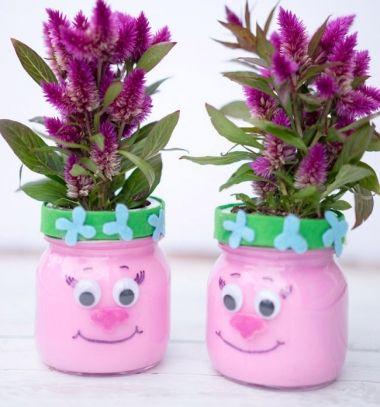 DIY Troll mason jar planter - Trolls craft // Troll kaspó növényeknek házilag befőttesüvegből ( Pipacs hercegnő ) // Mindy - craft tutorial collection // #crafts #DIY #craftTutorial #tutorial
