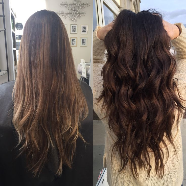 From Caramel balayage to dark brown balayage hair color #hair #balayage