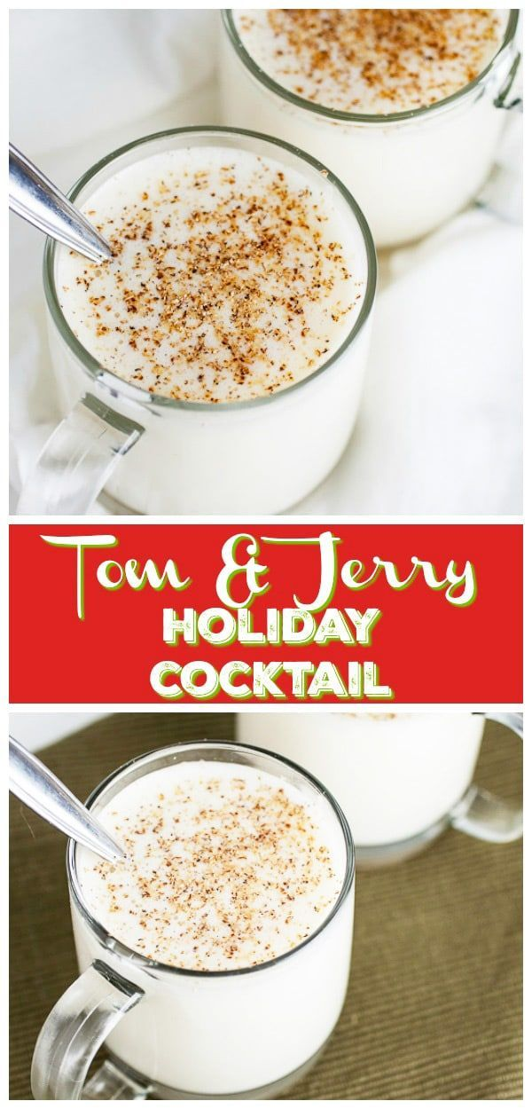 Tom and Jerry Holiday Cocktail Recipe drink recipes Pinterest
