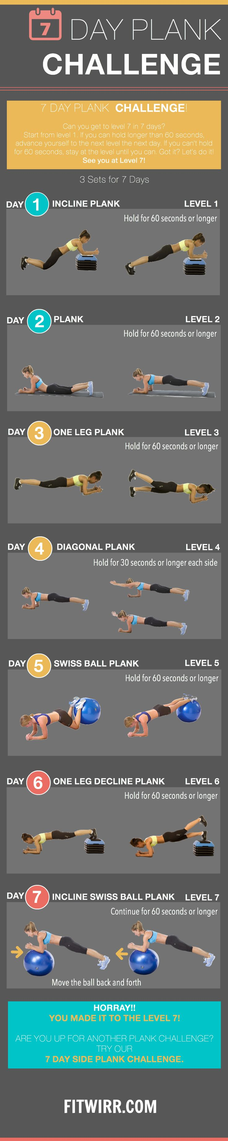 Plank Pose - Try Our planking challenge for 7 days - core strength