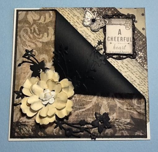 Kaisercraft Art of life papers, Spellbinders Timeless rectangles, Catalina wreath die, SU blossom punches