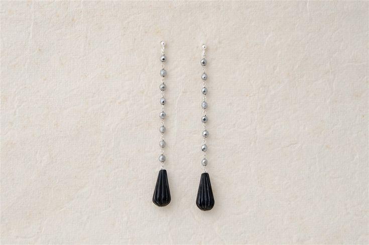 Hematite and Onyx earrings