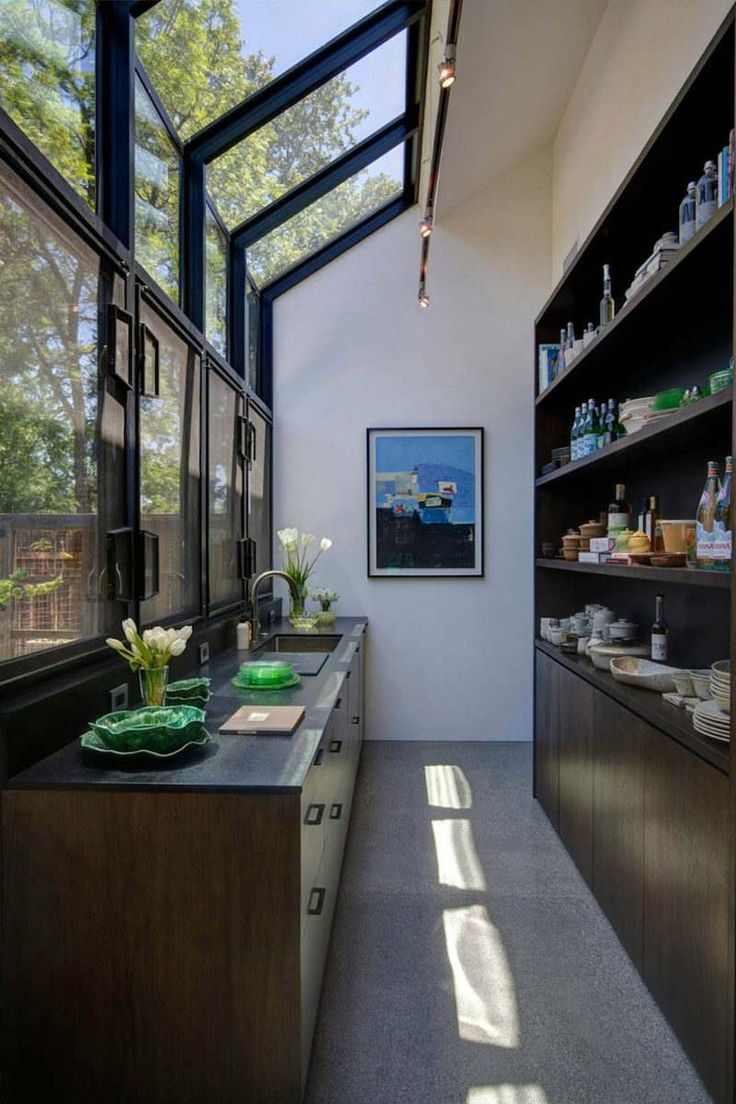 cuisine design moderne longue et étroite Plus