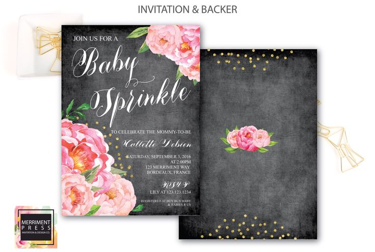 Baby Sprinkle Invitation // Chalkboard // Peonies // Peony// Baby Sprinkle Invite // Pink // Gold Glitter // BORDEAUX COLLECTION by MerrimentPress on Etsy https://www.etsy.com/listing/295077109/baby-sprinkle-invitation-chalkboard