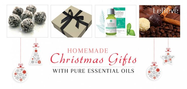 Homemade Christmas Gifts. Le Reve Pure Essential Oils in baking treats.
