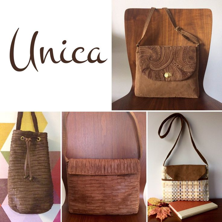 Handmade suede purses, available at http://unicatoronto.etsy.com