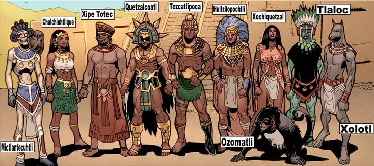 Tēteoh (Aztec Gods): Mictlantecuhtli - God of the underworld. Chalchiuhtlique…