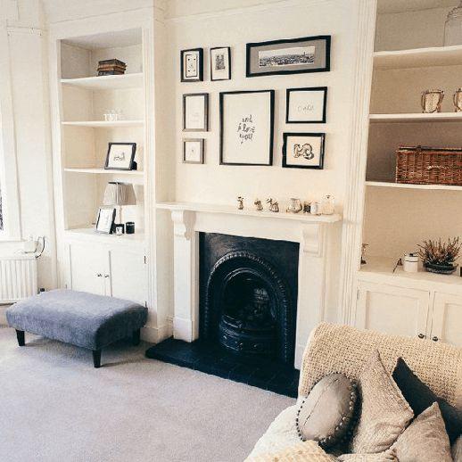 Gallery Wall Fireplace - Scandinavian Interiors