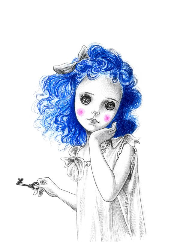 Coraline art print by juliefilipenko on etsy art for Art sites like etsy