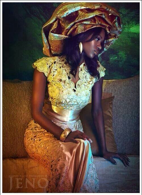 Beautiful black bride.