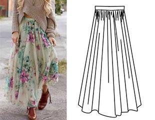 Простые летние юбки