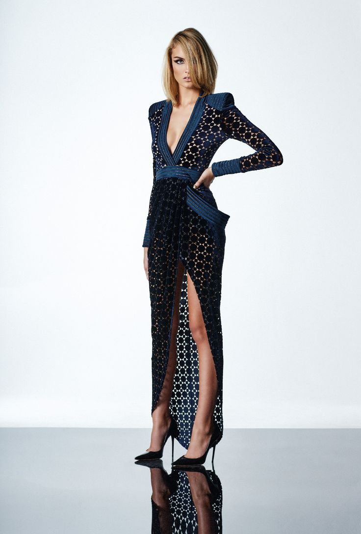 Zhivago - Shadow Lounge Gown - Navy/Gold
