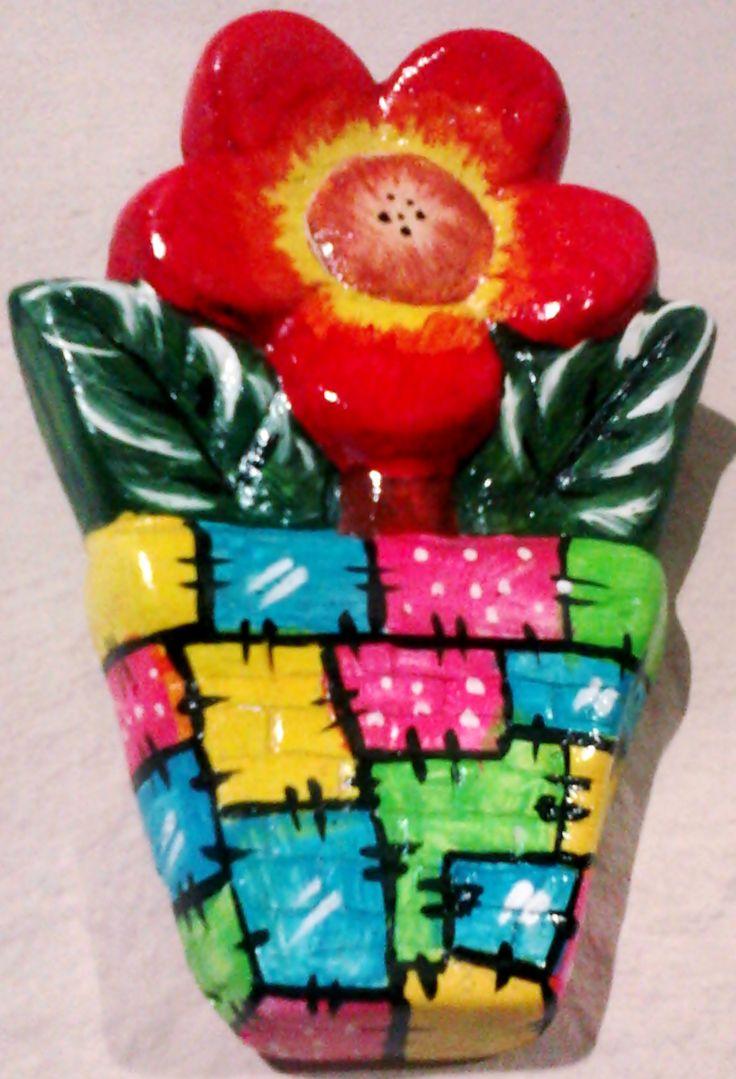 Vaso de flor de gesso