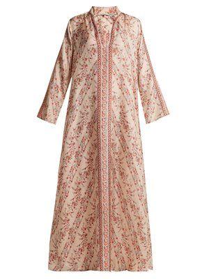 af4b52a0a8e Bobo floral-print silk dress