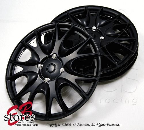 "17"" Inches Hubcap Style#533 4pcs Set of 17 inch Wheel Rim Skin Cover Matte Black #Generic"