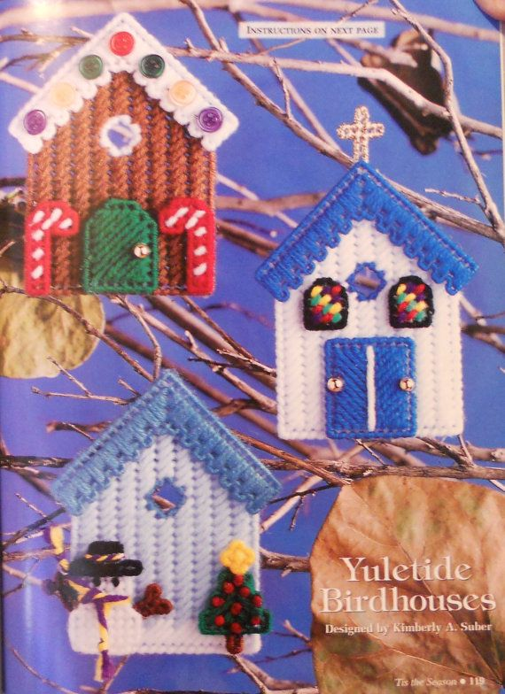 YULETIDE VOGELHUIZEN Ornaments - Twilight Pals Kerstman Moon & Star - Plastic Canvas Kerst patronen