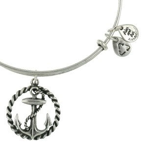 alex and ani anchor charm bracelet..love Alex and aniAlex And Ani Bracelets Anchors, Style, Alex An Ani, Expanded Wire, Russian Silver, Wire Bangles, Alex Ani, Nautical, Alex O'Loughlin