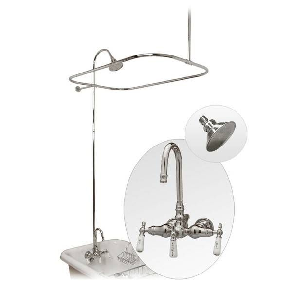 randolph morris randolph morris claw foot tub shower enclosure with metal showerhead
